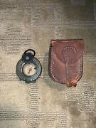 Ww1 Us Army 1918 Lensatic Compass Number 13576 Wm Ainsworth And Sons Leather Case