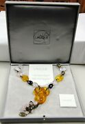 Lalique Limited Edition 042/188 Serpent Snake Semiprecious Stones Necklace