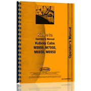 New Diesel 4wd Operators Manual Made Fits Kubota Tractor Cab Model M6950dt