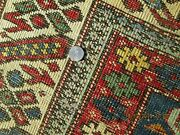 Very Fine Antique Kuba Caucasian Circa Late 1800and039s Natural Dyes Chi Chi Border