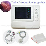 Contec Rechargeable Fetal Monitor Baby Heart Rate Fhr Alarmtoco Twins 2 Probes