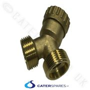 3/4 X 3/4 Brass Y Piece Splitter Twin Outlet Washing Machine Hose Connector