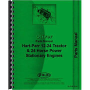 Tractor Parts Manual For Oliver For Hart Parr 24-12