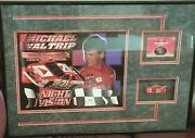 Nascar Michael Waltrip Signed 1996 21 Citgo Photo Diecast Card Collection