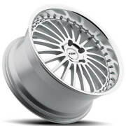 4ea 20 Staggered Tsw Wheels Silverstone Silve And Lip Rims S7