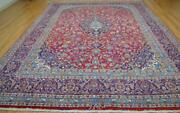 9and0397 X 12and0397 Signed Vintage Semi Antique Handmade Oriental Wool Area Rug 10 X 13