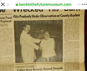 Bttf Lab Coat From Back To The Future Newspaper Photo Of Otis Peabody