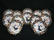 Early Set 12 Royal Crown Derby Imari Kings 383 9 Luncheon Plates C. 1877-1890
