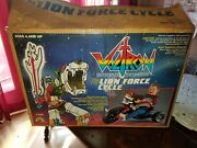 Vintage Voltron Lion Force Cycle In Box Big Wheels Vhtf