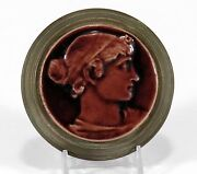 Low Art Tile Works Iron Brass Stove Portrait Paperweight Arts And Crafts Chelsea