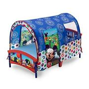 Mickey Mouse Toddler Bed Tent Guard Rails Kids Boy Furniture Bedroom Gift New