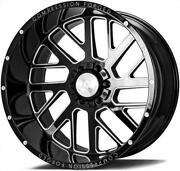 24x14 Axe 2.0 Compression Forged Gloss Black Milled Wheels 8x180 Chevy Gmc