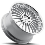 4ea 20 Staggered Tsw Wheels Silverstone Silve And Lip Rims S8
