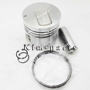 6 Sets Std Piston Set Pin And Clip W Rings For Mitsubishi S6e Engine