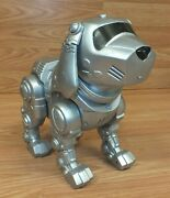 For Parts Tekno Manly Toy Quest Silver Tone Interactive Robot Puppy Dog