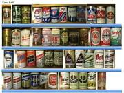 Vintage Tab Top And Flat Top Beer Can Collection