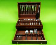Spring Glory By International Sterling Silver Flatware Set 62 Pieces.