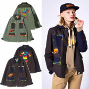 2020 S/s A Bathing Ape Ladiesand039 Abc Camo Flower Patchwork Army Shirt 2colors New
