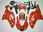 Fit For 2006 2007 Zx10r Solid Gloss Red Abs Plastic Injection Mold Fairing Kit