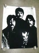 The Beatles Silver Flocked Rock Poster Vintage 1960's Rare C117
