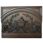 Antique Argentine Oak Door Lintel From The Jockey Club Of Buenos Aires 19th Cent