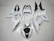 Fit For 2013-2018 Zx6r 636 Solid Pearl White Abs Plastic Injection Fairing Kit