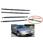 For Accord Sedan 1994-1997 Window Weatherstrip 4pc Molding Trim Outer W/tool