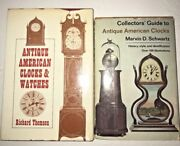 Set Of Two Books-collectorsand039 Guide To Antique American Clocks And Watches