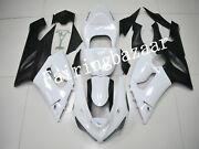Fit For 2005 2006 636 Zx6r Pearl White Black Abs Plastic Injection Fairing Kit