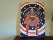 Rare Vintage 1970's Superman Comic Book Art Poster Size 35x24 Printed In Usa