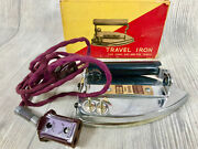 Great Vtg Travel Iron With Box Gibraltar Made In Japan Fantastic Conditon