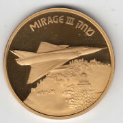 Israel Airplanes That Made History Mirage Iii Medal By Weishoff 50mm Bronze