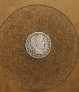1916 D 25c Barber Quarter 90 Silver Us Coin Bq250 Old Tuck Free Shipping