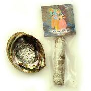 White Sage And Abalone Shell Smudging Purification Set Clearing Negativity Wicca