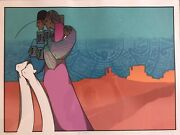 Vintage Rare Amado Maurillo Pena Signed Stamped Lithograph Print Southwest Art