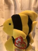 Rare Bubbles Ty Beanie Babies Pvc Fin And Tush Tag Major Errors - Make Offer