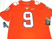 135 Nwt Size S 2xl Men Nike Clemson Tigers Stitched Football Jersey Embroidered