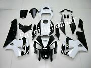 Fit For 2005 2006 Cbr600rr Pearl White Black Abs Plastic Injection Fairing Kit