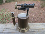 Antique Vintage Turner Brass Blow Torch No. 63 For Parts Only