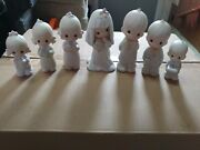 New 7 Precious Moments Wedding Party Figurines