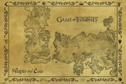 63149 Game Of Thrones Antique Map Wall Print Poster Plakat