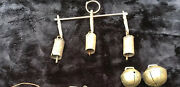 Antique Gilded Bronze/copper/iron Cow/sheep/goat Bell Collection 5 Bells