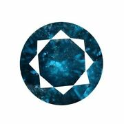 1.00 Cts Certified Round Blue Natural Diamonds Loose Si 2- I Clarity   Bda50