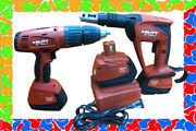 Hilti Sf 4000 A Cordless Drywall Screw Gun Kit + Sf 180-a With Battery And Charger