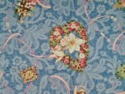 Designer April Heart French Lace Shabby Roses Angels Wreaths Fabric 25 Yard Bolt