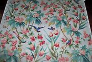 Brunschwig And Fils Les Roseaux Tropicaux Birds Polished Cotton Fabric 10 Yards