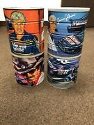 Vintage Retro Nascar Maxwell House Coffee Cans Lot Of 4
