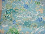 Brunschwig And Fils Chinoiserie Shishi Dragon Toile Fabric 10 Yards Turquoise