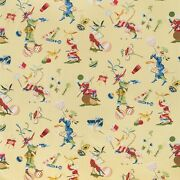 Brunschwig And Fils Chinoiserie Circus Entertainers Fabric 10 Yards Yellow Multi