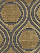 Pollack Contemporary And Modern Geometric Cut Velvet Fabric 10 Yards Antique Gold